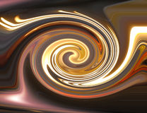 Brown glow spiral background Stock Image