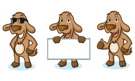 Brown Goat Mascot happy Royalty Free Stock Photography