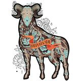 Brown Goat Royalty Free Stock Images