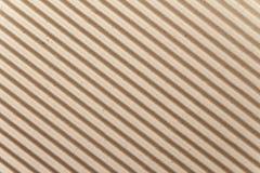 Brown gofrował kartonową teksturę dla tła Obraz Stock