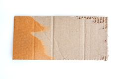Brown gofrował szkotowego kartonu tło Obrazy Royalty Free
