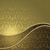 Brown and gold background Royalty Free Stock Photo