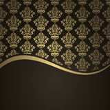 Brown and gold background Stock Image