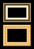 Brown gold frame Royalty Free Stock Image