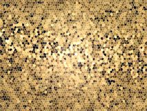 Brown gold mosaic background Stock Images