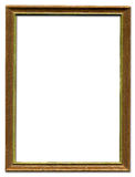Brown and gold picture frame. Brown and gold empty picture frame border design Stock Image