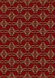 Brown - gold wallpaper. With elegant pattern royalty free illustration