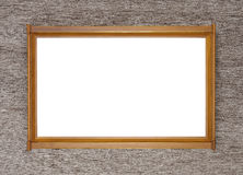 Brown with Gold wooden picture modern frame on ancient backgroun Royalty Free Stock Image