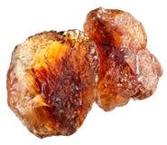 Brown gomółki trzciny cukieru rozsypisko Obrazy Stock