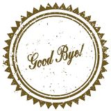 Brown GOOD BYE   grunge stamp. Illustration image concept Stock Photography