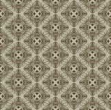 Brown Gothic pattern Royalty Free Stock Image
