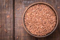 Brown grain rice variety Stock Photo
