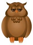 Brown grande Owl Illustration cornuto Immagini Stock