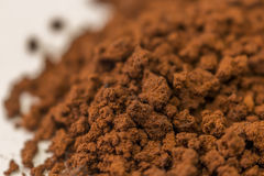 Brown granulate of instant coffee Royalty Free Stock Photography