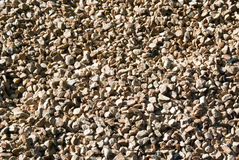 Brown Gravel. Full frame gravel image, ideal background or texture Royalty Free Stock Photo