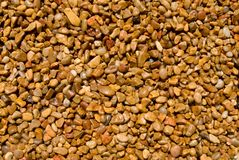 Brown gravel. Gravel for background or texture Royalty Free Stock Photography