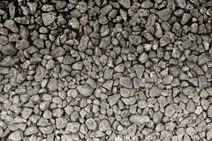Brown gravel texture or background. With gradient Royalty Free Stock Image