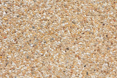 Brown gravel texture top view. Stock Photo