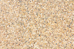 Brown gravel texture top view. Royalty Free Stock Images