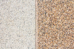 Brown gravel texture top view. Royalty Free Stock Photos