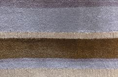 Brown and Gray Line Plush Fabric Texture Background Royalty Free Stock Images