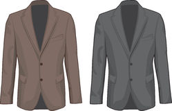 Brown and Gray male coats. Vector Royalty Free Stock Photo