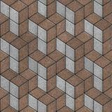 Brown and Gray Pavement in a Pattern of Rhombuses Stock Photography