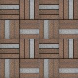 Brown and Gray Pavement Rectangle Laid in Form of Royalty Free Stock Photos