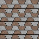 Brown-Gray Paving Slabs in the Form Trapezoids Royalty Free Stock Photography