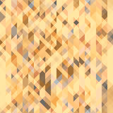 Brown, gray and peach orange geometric seamless pattern. Futuristic polygonal texture. Vector Royalty Free Stock Images