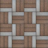 Brown and Gray Rectangles Paved. Seamless Texture Stock Photo