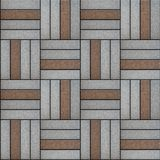 Brown and Gray Rectangles Paved. Seamless Texture. Brown and Gray Pavement. Rectangle Laid in Form of Weaving. Seamless Tileable Texture Stock Photo