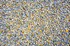 Brown and gray rock pebbles background Stock Images