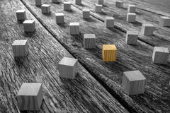 Brown and Gray Wooden Blocks on the Table Stock Photos