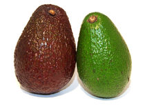 Brown and green avocado Royalty Free Stock Photography