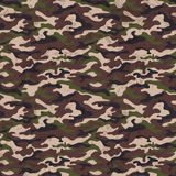 Brown green camouflage background with grunge effect, vector illustration Royalty Free Stock Photos