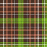 Brown green check plaid seamless pattern Royalty Free Stock Photography