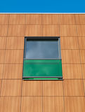 Brown and green facade. Of a building in the Netherlands Royalty Free Stock Images