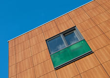 Brown and green facade. Of a building in the Netherlands Royalty Free Stock Image