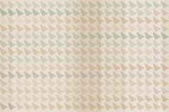 Brown, Green and Gray Triangles Texture on Beige Royalty Free Stock Photos