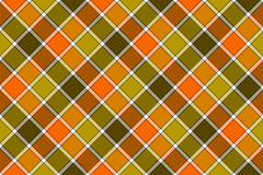 Brown green orange diagonal check seamless pattern Stock Image