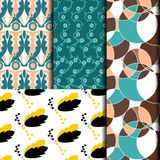 Brown and green patterned retro Stock Photos