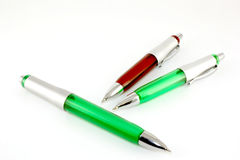 Brown and green pen Stock Photo