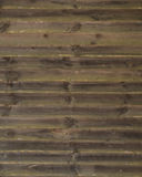 Brown greened weathered horizontal wooden boards Stock Photo