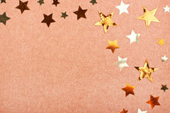 Brown greeting card with stars Stock Images