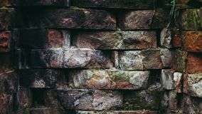 Brown and Grey Brick Wall Stock Photography