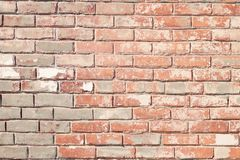 Brown and Grey Concrete Brick Wall Royalty Free Stock Photo