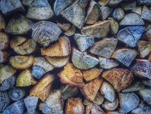 Brown and Grey Firewood Stock Images