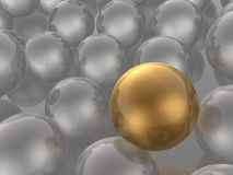 Brown and grey spheres. As abstract background, 3D illustration vector illustration