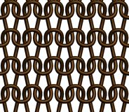Brown grid. Seamless knitted fabric structure of chocolate brown colour Stock Images